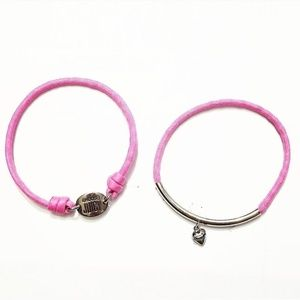 Juicy Couture Pink Charm Bracelet Set